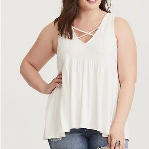 Torrid Tank with lace embellishment